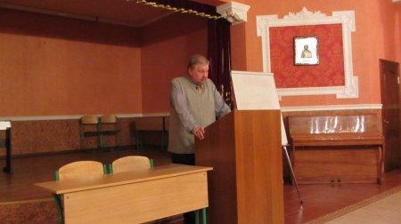 В актовом зале нашего храма состоялась лекция известного московского археолога Н.Е. Гайдукова